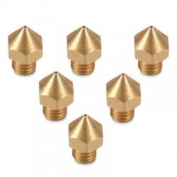 Anet 6pcs 3D Printer Part Brass Nozzle Head